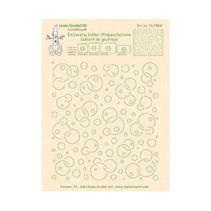 Embossing folder background Circles 14.4x16cm