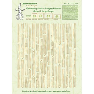 Embossing folder background Wood  14.4x16cm
