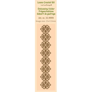 Border embossing folder lace  2.3x13.3cm