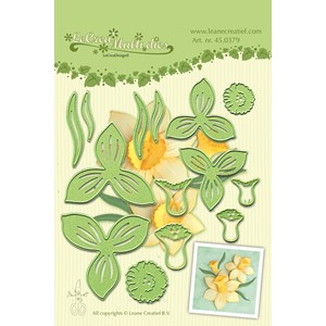 Leabilitie Multi die flower 007 daffodil cut and embossing