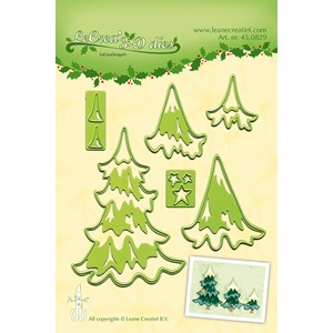 Leabilitie Christmas trees cut and embossing die