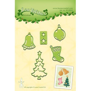Leabilitie Christmas ornaments small cut and embossing die