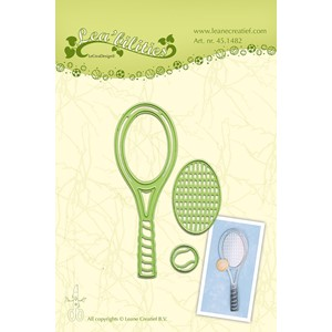 Leabilitie Tennis racket  cut and embossing die