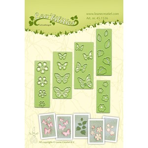 Leabilitie small Butterflies & Flowers  cut and embossing d