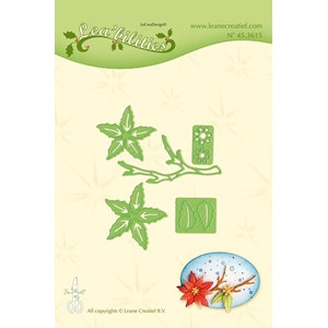 Leabilitie Poinsettia small & branche  cut and embossing die