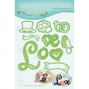 Leabilitie Love combi cut and embossing die