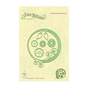 Leabilitie Frame swirl /circle cut and embossing die