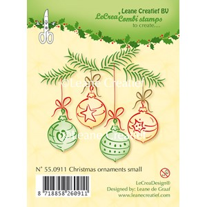 Clear stamp Christmas ornaments small