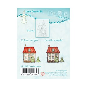 Doodle clear stamp House