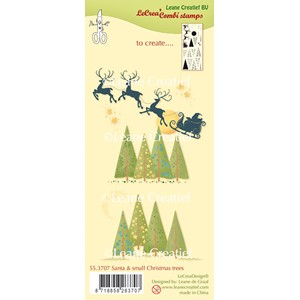 Combi clear stamp Santa & small Christmas trees