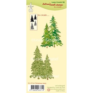 Combi clear stamp Christmas trees