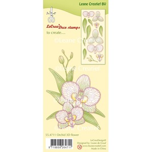 Clear stamp Orchid 3D Flower (combi possible with die 45.469
