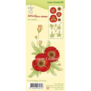 Clear stamp Poppy 3D Flower (combi possible with die 45.4704