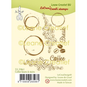 LeCreaDesign combi clear stamp Coffe beans  stains