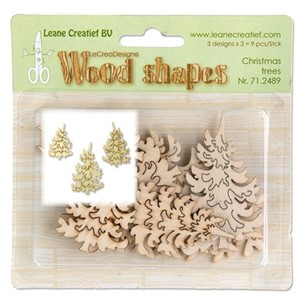 Wood shapes Christmas Trees