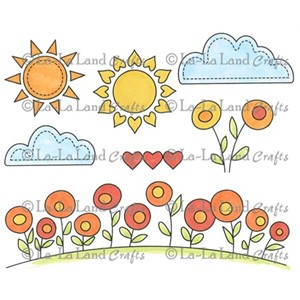 Sunny Day Background Elements
