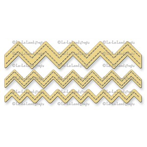 Stitched Zigzags (Set of 3)