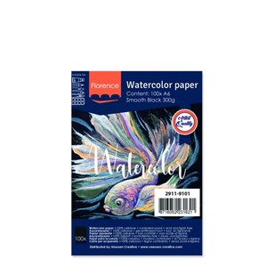 Watercolor paper smooth Black 300g A6 100sheets