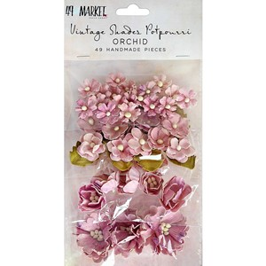 Orchid, Vintage Shades Potpourri paper flower, 49th