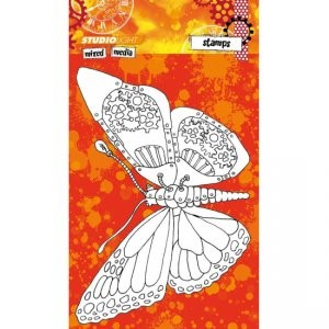 Studio Light Mixed Media Stamp, Butterfly