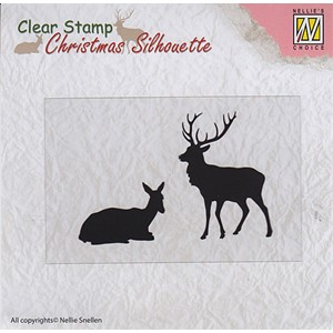 Christmas Silhouette Clear stamps reindeer