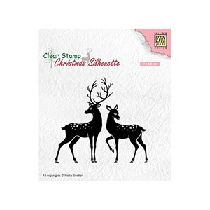 Christmas silhouette clear stamps Deer