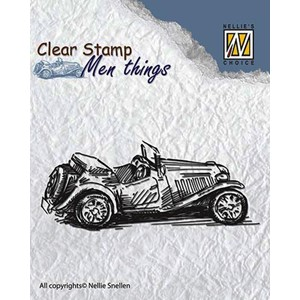 Clear stamps men things old timer
