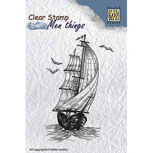 Clear stamps men things sailing boat