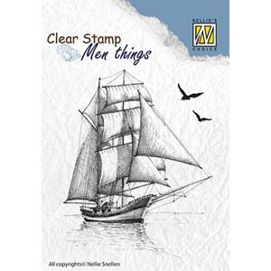 Clear stamps Men Things Sailingboat-2