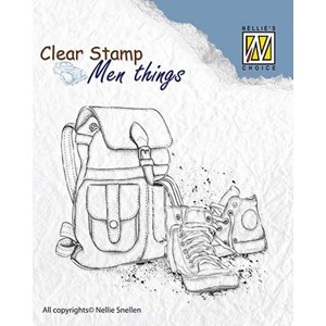 Clear stamps Men Things Backpack & shoes
