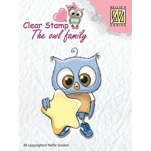 Clear Stamps The owl Family star - Feb.18