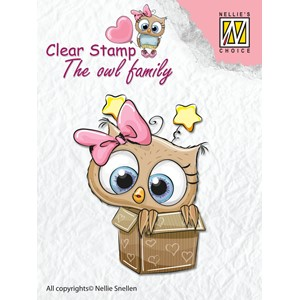 Clear Stamps The owl Family in the box - Feb.18