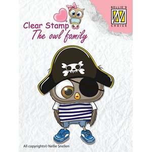 Clear Stamps The owl Family pirate - Feb.18