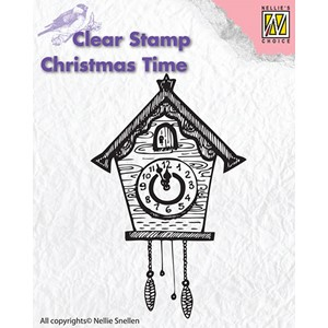 Clear stamps Christmas Time clock