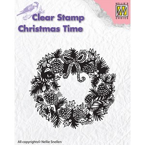 Clear stamps Christmas Time wreath