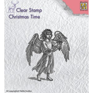 Clear stamps angel with lantern