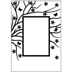 - UTGÅR      Embossing Folder 106x150mm spring is in the
