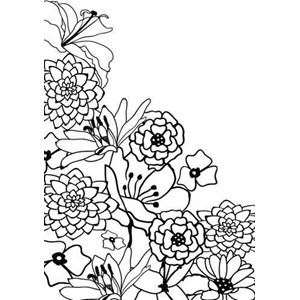 Embossing Folder Flower corner-1  - UTGÅR