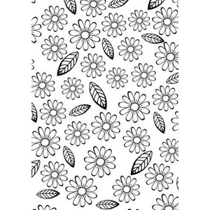 Embossing Folder Flowers & leaves  - UTGÅR