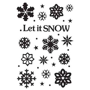 Embossing Folder Let it snow  - UTGÅR