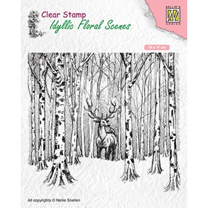 Clear Stamps Idyllic Floral Scenes Deer in forest