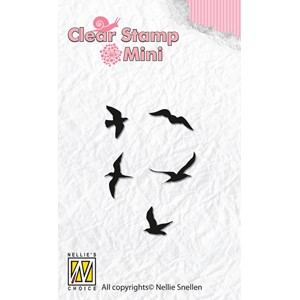 Mini clear stamps birds