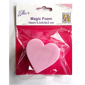 Magic Foam heart shape 5,3x5,6x3cm