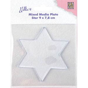 Mixed Media Plates star-shape