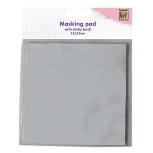 Masking whole sticky back white paper 15x15cm 30 sheets