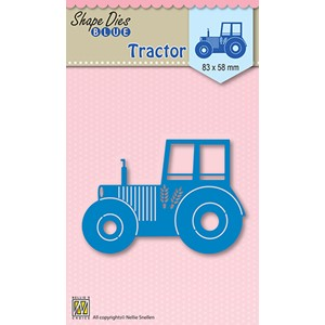 Shape Die Blue tractor