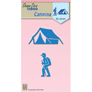 Shape Dies blue Holidays Camping