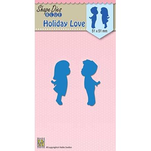 Shape Dies blue Holiday love