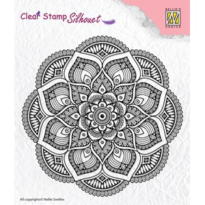 Clear stamps Silhouette Mandala
