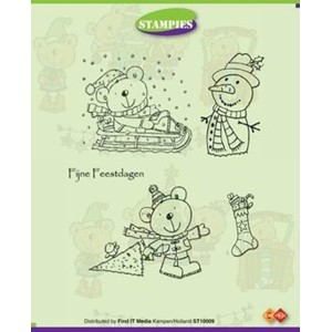 Stampies clearstamps, Playing in the snow  - UTGÅR